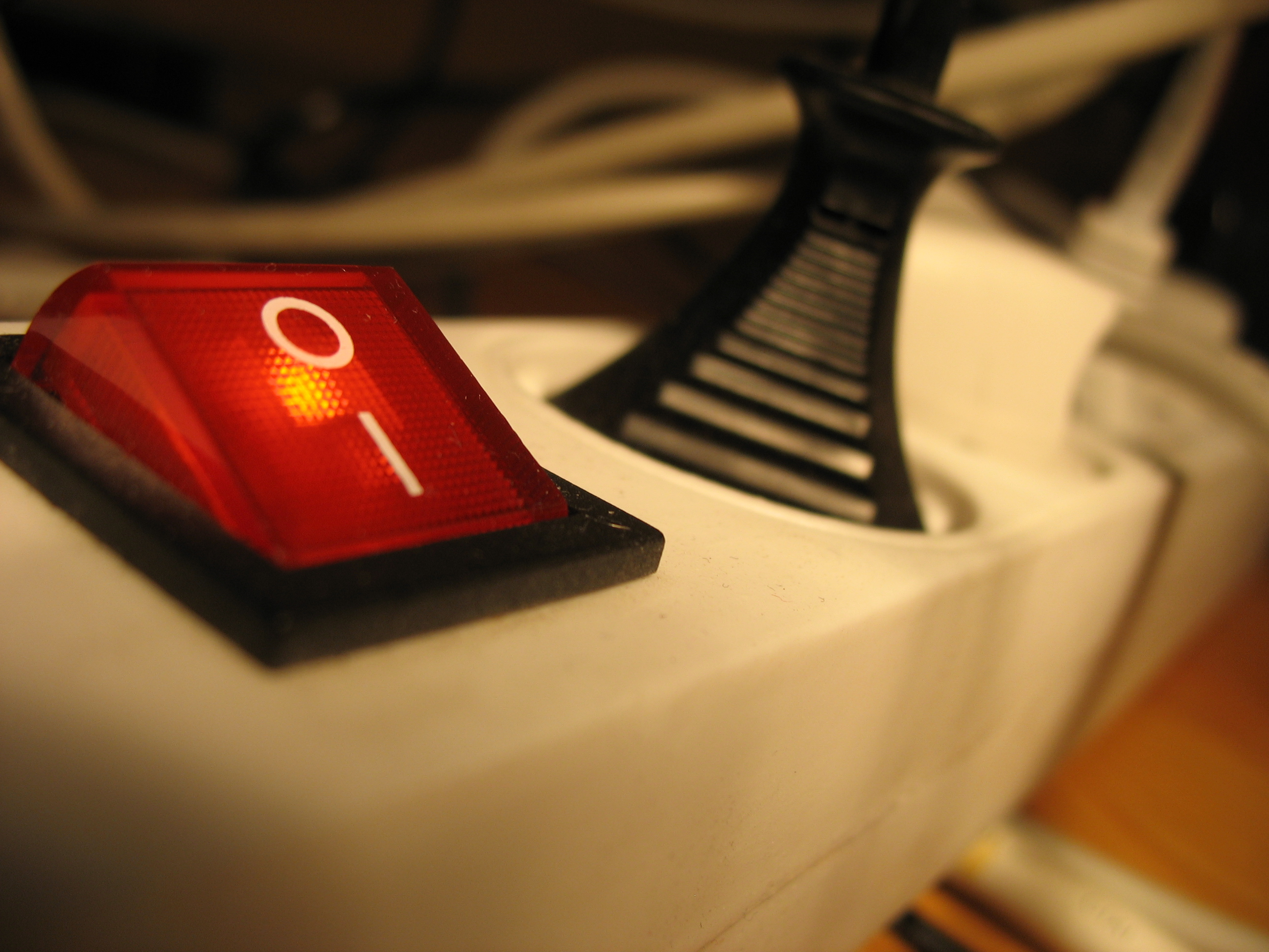 An energy efficient power bar makes it easy to turn on and off groups of electronics.