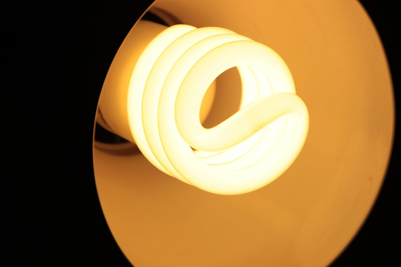 Use CFL lights to save money on your hydro bills.