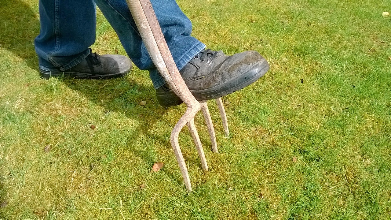 Aerate your lawn this fall to decrease soil pack for the spring.