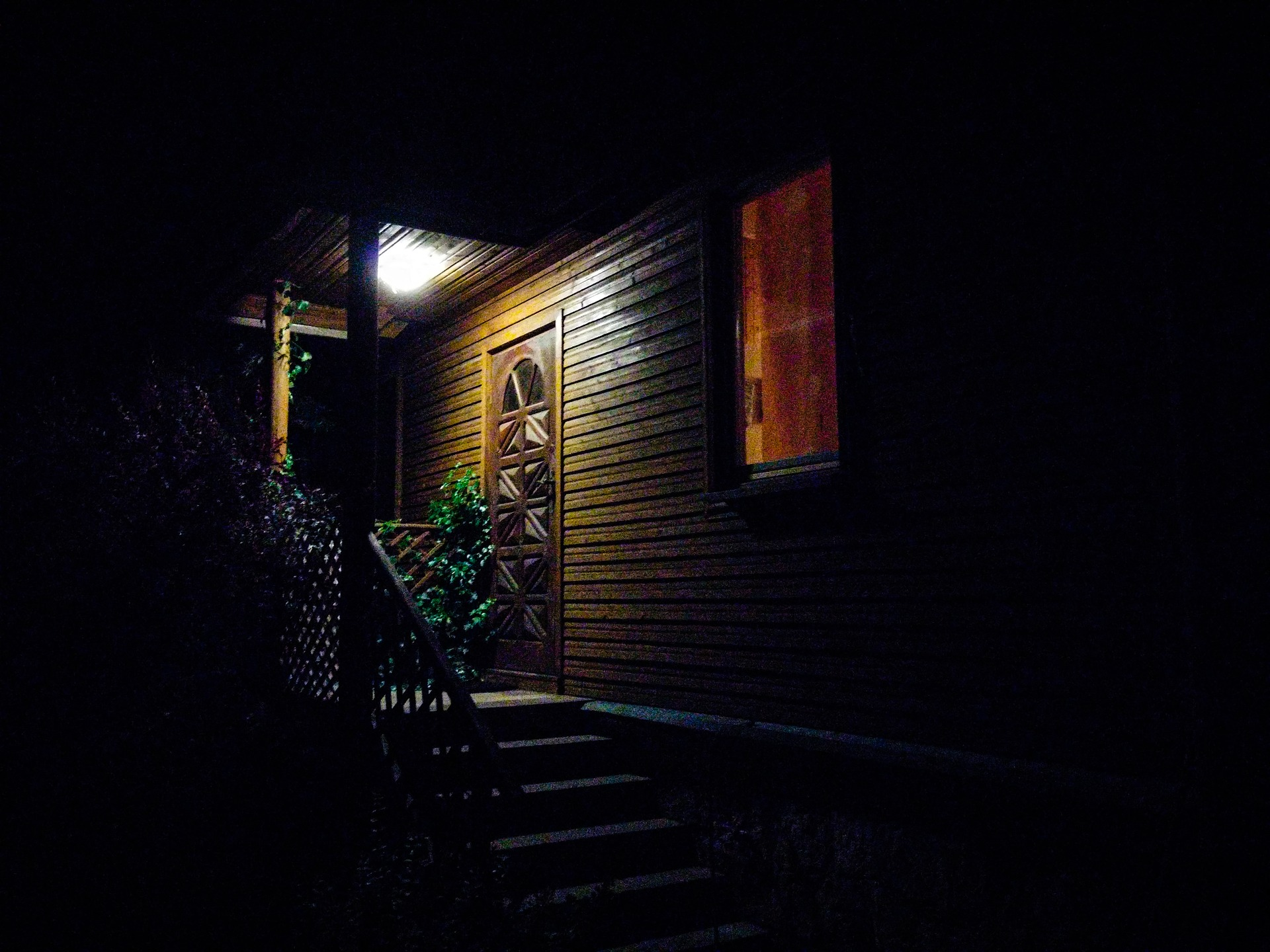 Make sure your home's stairs, sidewalks, and doors are well lit this season.
