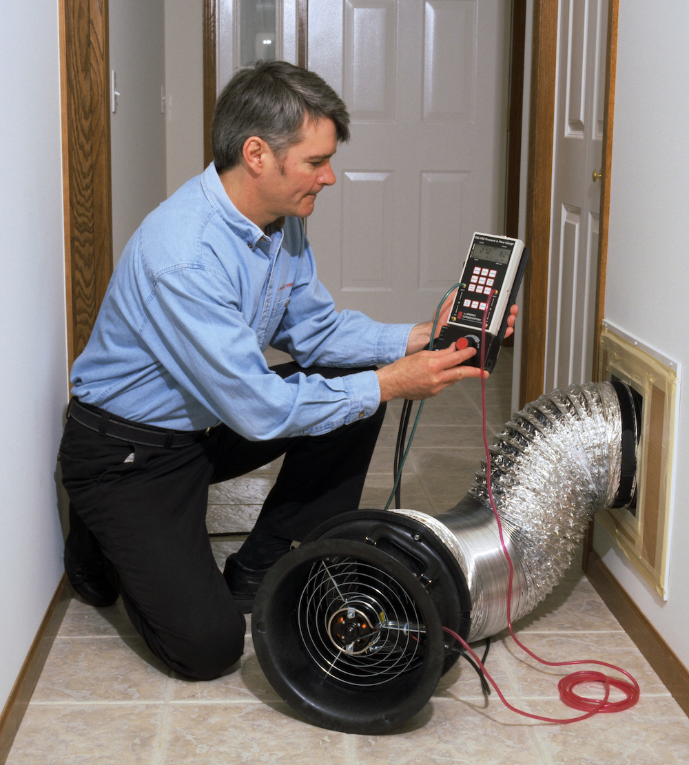 Get the heating professional to check your ducts for leaks to help improve efficiency.