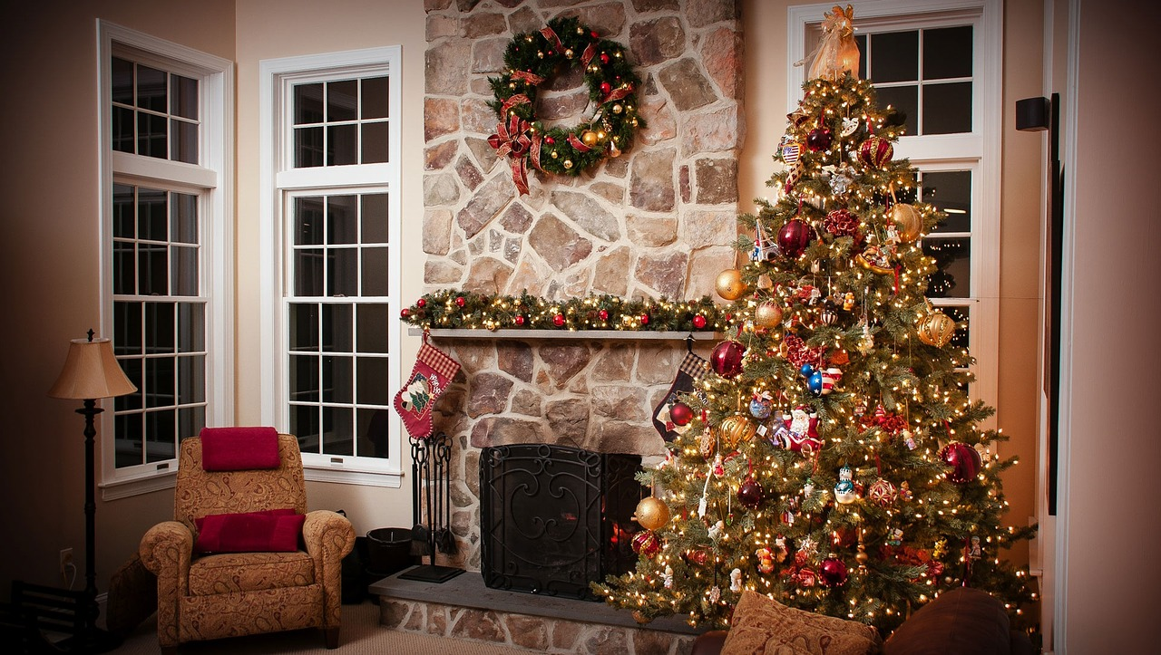 This tree is probably a little too close to that fireplace!