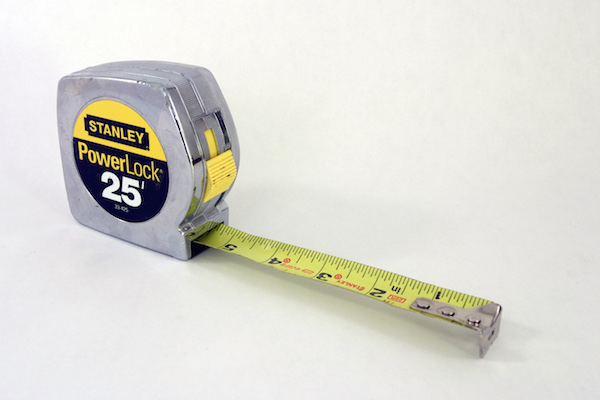 You'll probably want a measuring tape to be easily accessible when furnishing your home.