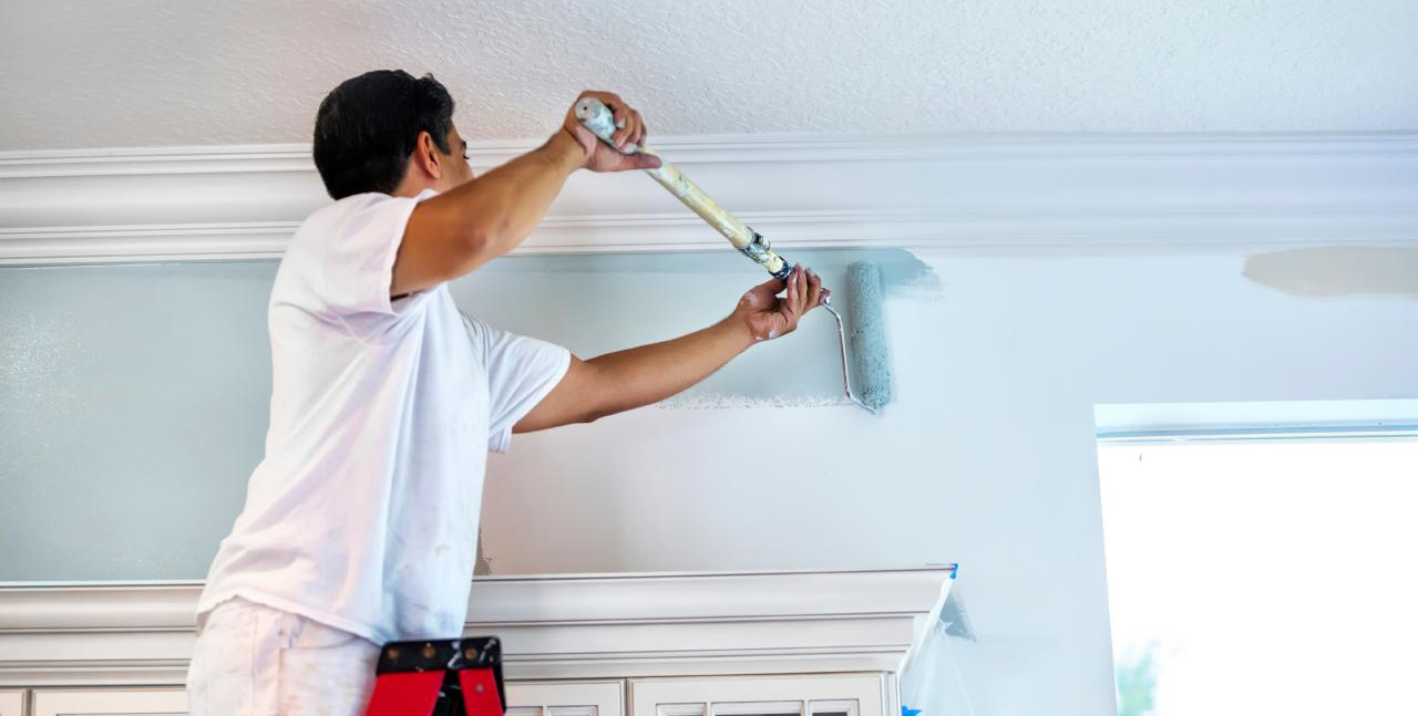 Painting, weatherstripping, and re-caulking are great indoor home maintenance jobs for the winter.