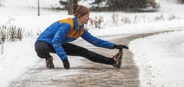 Make sure you stretch when you're done shovelling for the day!