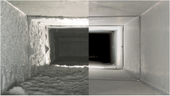 Make sure your ducts look more like the picture on the right so your family can stay healthy this season!